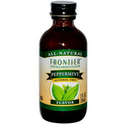 Frontier Natural Products, Peppermint Flavor, Alcohol-Free 59ml