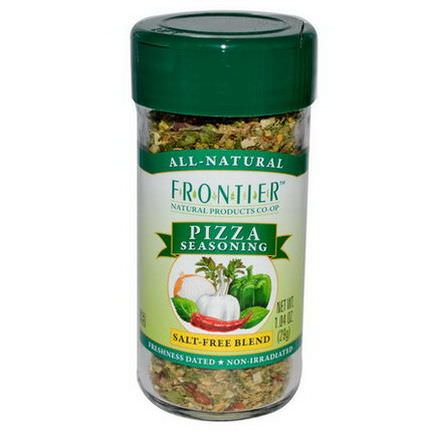 Frontier Natural Products, Pizza Seasoning, Salt-Free Blend 29g