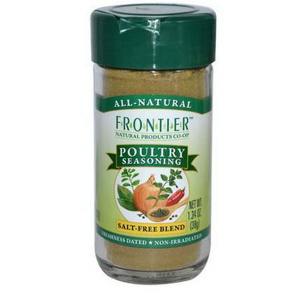 Frontier Natural Products, Poultry Seasoning, Salt-Free Blend 38g