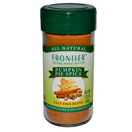 Frontier Natural Products, Pumpkin Pie Spice, Salt-Free Blend 54g