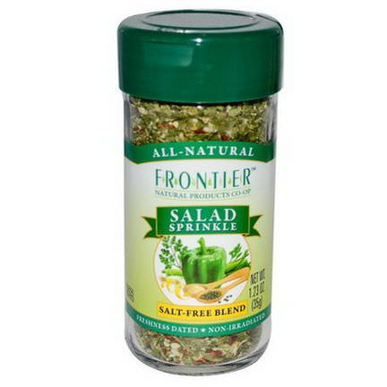 Frontier Natural Products, Salad Sprinkle, Salt-Free Blend 35g