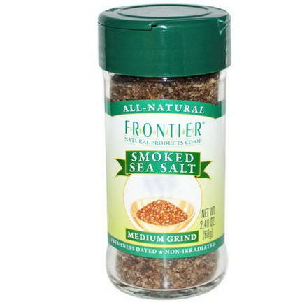 Frontier Natural Products, Smoked Sea Salt, Medium Grind 68g