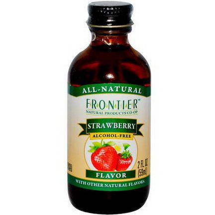 Frontier Natural Products, Strawberry Flavor, Alcohol-Free 59ml