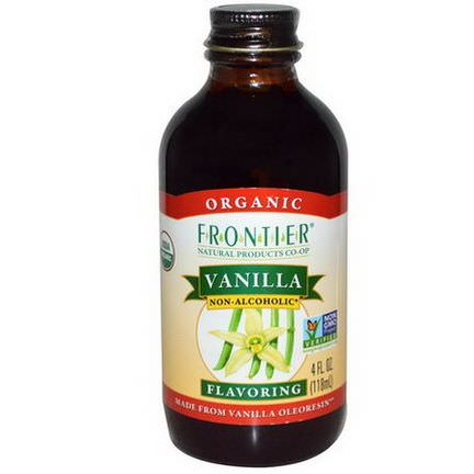 Frontier Natural Products, Vanilla Flavoring, Non-Alcoholic 118ml