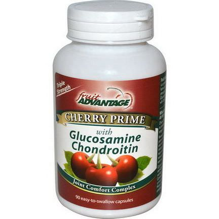Fruit Advantage, Cherry Prime With Glucosamine Chondroitin, Joint Comfort Complex, 90 Capsules