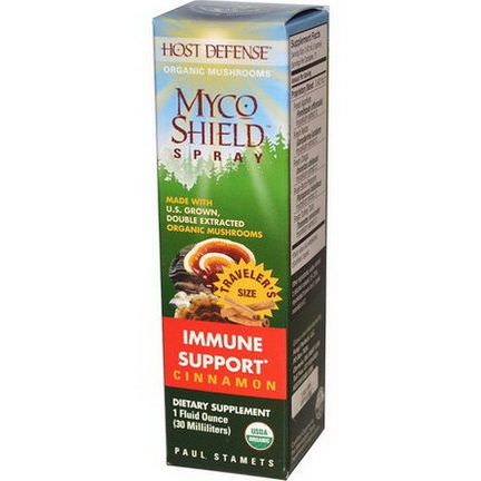 Fungi Perfecti, Host Defense, Myco Shield Spray, Immune Support, Cinnamon 30ml