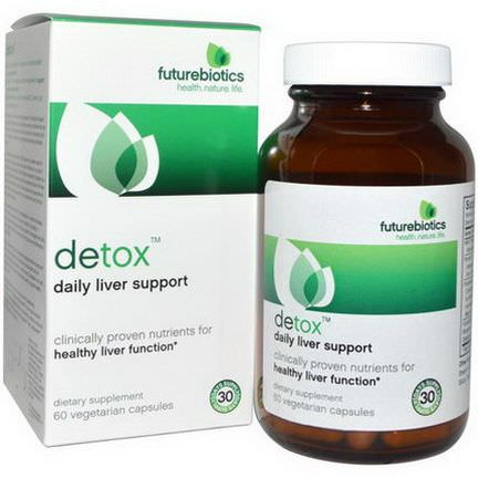FutureBiotics, Detox, Daily Liver Support, 60 Veggie Caps