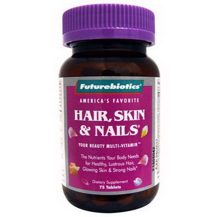 FutureBiotics, Hair, Skin&Nails, 75 Tablets