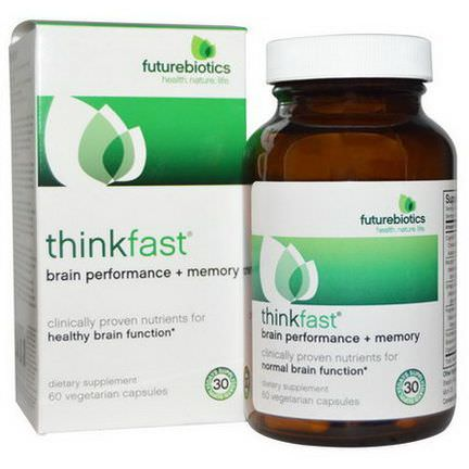 FutureBiotics, ThinkFast, Brain Performance Memory, 60 Veggie Caps