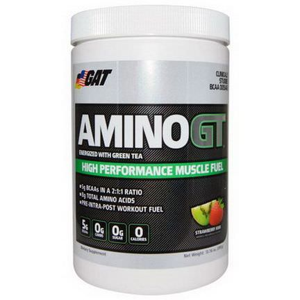 GAT, Amino GT, High Performance Muscle Fuel, Strawberry Kiwi 390g