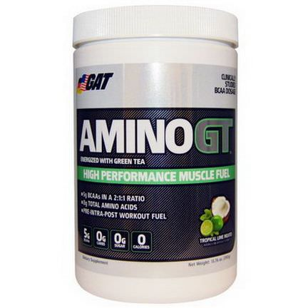 GAT, AminoGT, High Performance Muscle Fuel, Tropical Lime Mojito 390g