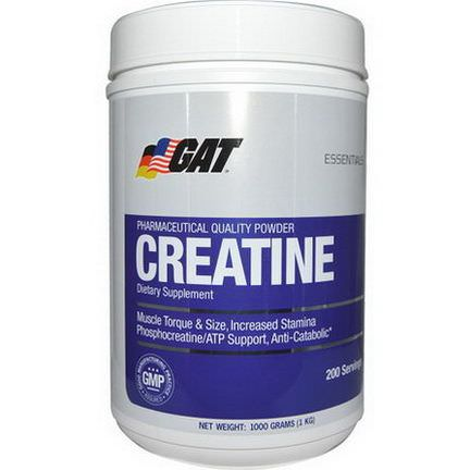 GAT, Creatine, 1000g Powder