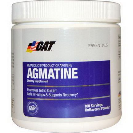 GAT, Essentials, Agmatine, Unflavored Powder, 75g