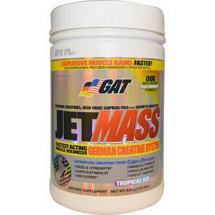 GAT, JetMASS, German Creatine System, Tropical Ice 820g
