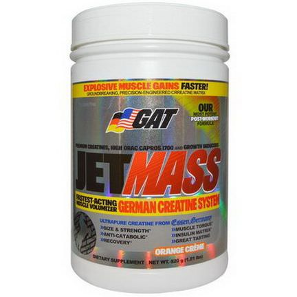 GAT, Jetmass, German Creatine System, Orange Creme 820g