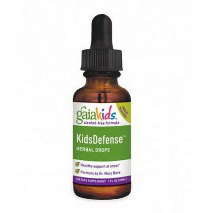 Gaia Herbs, Kids Defense Herbal Drops, Alcohol-Free Formula 30ml
