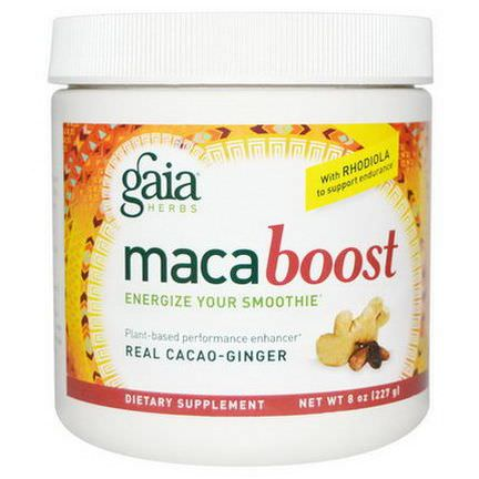 Gaia Herbs, Maca Boost, Real Cacao-Ginger 227g