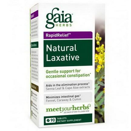 Gaia Herbs, Rapid Relief, Natural Laxative, 90 Tablets