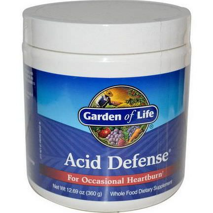 Garden of Life, Acid Defense, For Occasional Heartburn 360g