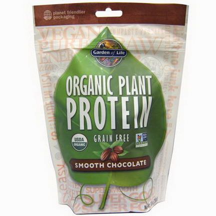 Garden of Life, Organic Plant Protein, Grain Free, Smooth Chocolate 280g