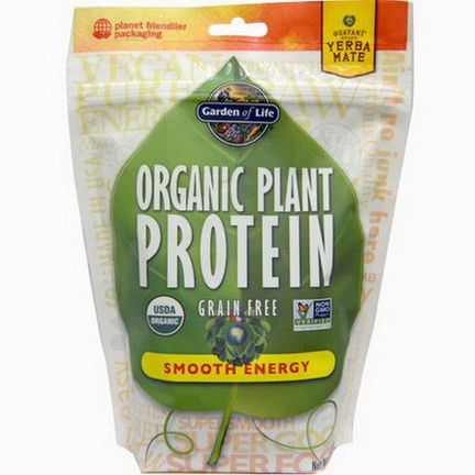 Garden of Life, Organic Plant Protein, Smooth Energy 240g