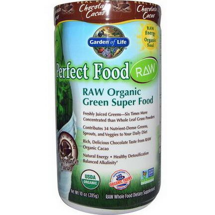 Garden of Life, Perfect Food, Raw Organic Green Super Food, Chocolate Cacao 285g