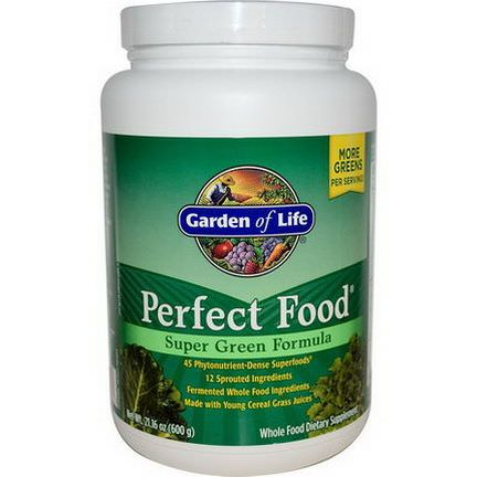 Garden of Life, Perfect Food, Super Green Formula 600g