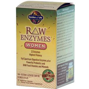 Garden of Life, RAW Enzymes, Women, 90 Veggie Caps