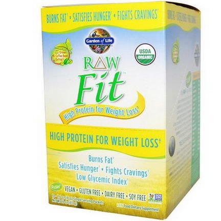 Garden of Life, RAW Fit, High Protein for Weight Loss, 10 Packets 45g Each