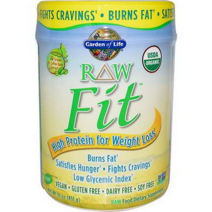 Garden of Life, RAW Fit, High Protein for Weight Loss 451g