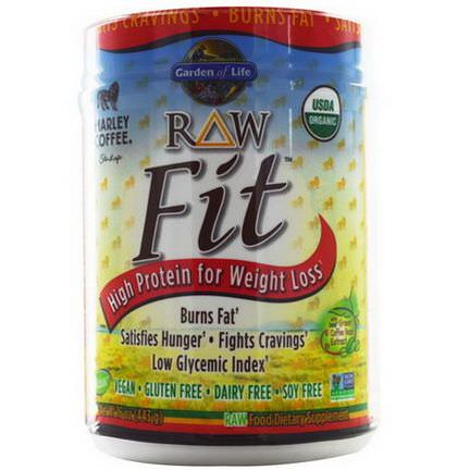 Garden of Life, RAW Fit, High Protein for Weight Loss, Marley Coffee Flavor 443g