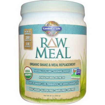Garden of Life, RAW Meal, Organic Shake&Meal Replacement 454g
