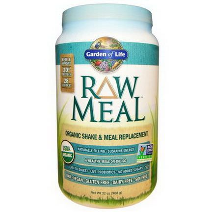 Garden of Life, RAW Meal, Organic Shake&Meal Replacement 908g