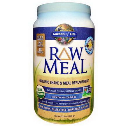 Garden of Life, Raw Meal, Organic Meal Replacement, Vanilla 949g