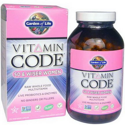 Garden of Life, Vitamin Code, 50&Wiser Women, 240 Veggie Caps