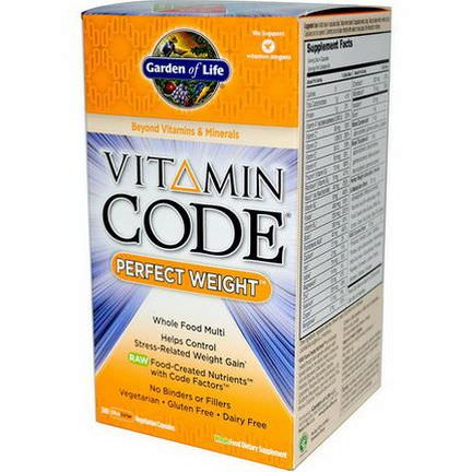 Garden of Life, Vitamin Code, Perfect Weight, 240 UltraZorbe Veggie Caps