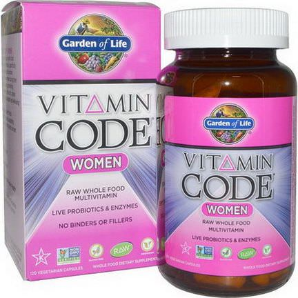 Garden of Life, Vitamin Code, Women, 120 Veggie Caps