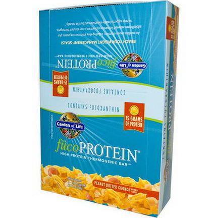 Garden of Life, fucoProtein, Peanut Butter Crunch, 12 Bars 55g Each