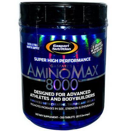 Gaspari Nutrition, Amino Max 8000, 350 Tablets