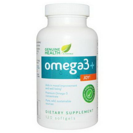 Genuine Health Corporation, Omega3 Joy, 120 Softgels