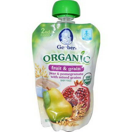 Gerber, 2nd Foods, Pear&Pomegranate Mixed Grains 99g