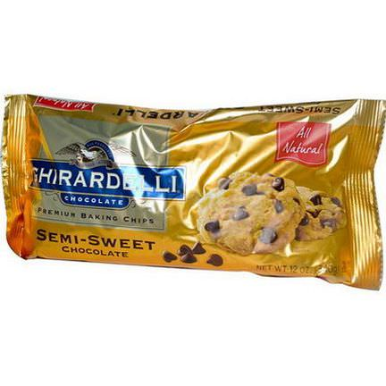 Ghirardelli, Premium Baking Chips, Semi-Sweet Chocolate 340g