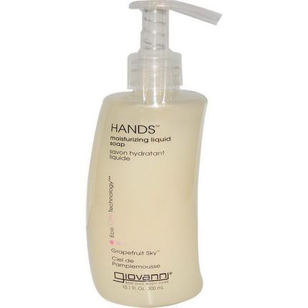 Giovanni, Hands, Moisturizing Liquid Soap, Grapefruit Sky 300ml