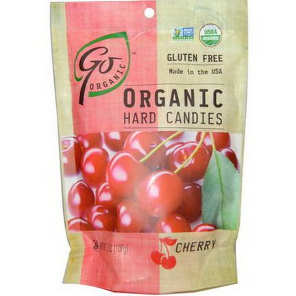 Go Organic, Organic Hard Candies, Cherry 100g