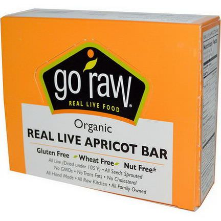 Go Raw, Organic Real Live Apricot Bar, 10 Bars, 12g Each