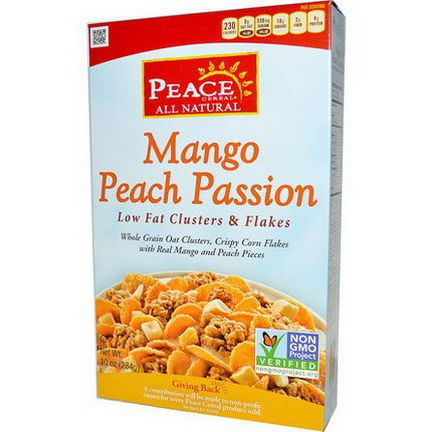 Golden Temple, Peace Cereal, Low Fat Clusters&Flakes, Mango Peach Passion 284g