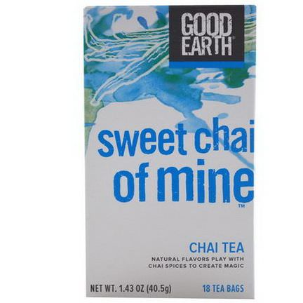 Good Earth Teas, Chai Tea, Sweet Chai of Mine, 18 Tea Bags 40.5g