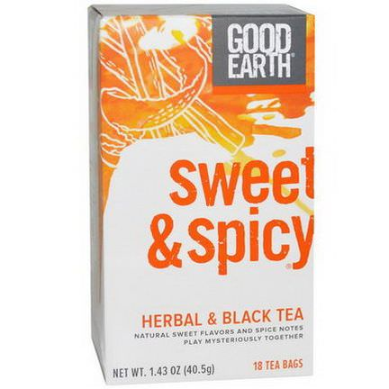 Good Earth Teas, Herbal&Black Tea, Sweet&Spicy, 18 Tea Bags 40.5g