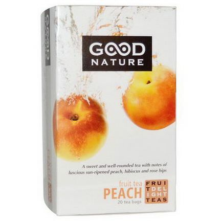 Good Nature Teas, Fruit Tea, Peach, 20 Tea Bags