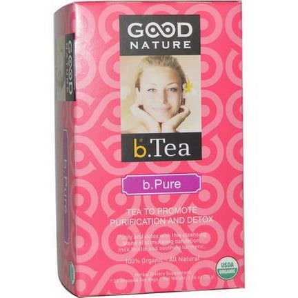 Good Nature Teas, Organic, b.Tea, b. Pure, 20 Tea Bags 30g